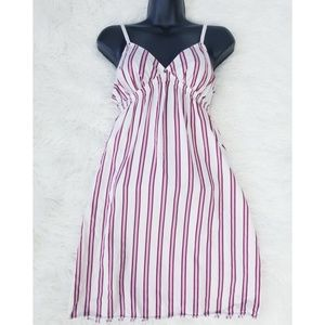 Victoria's Secret Stripe 100% Silk Slip Nightgown